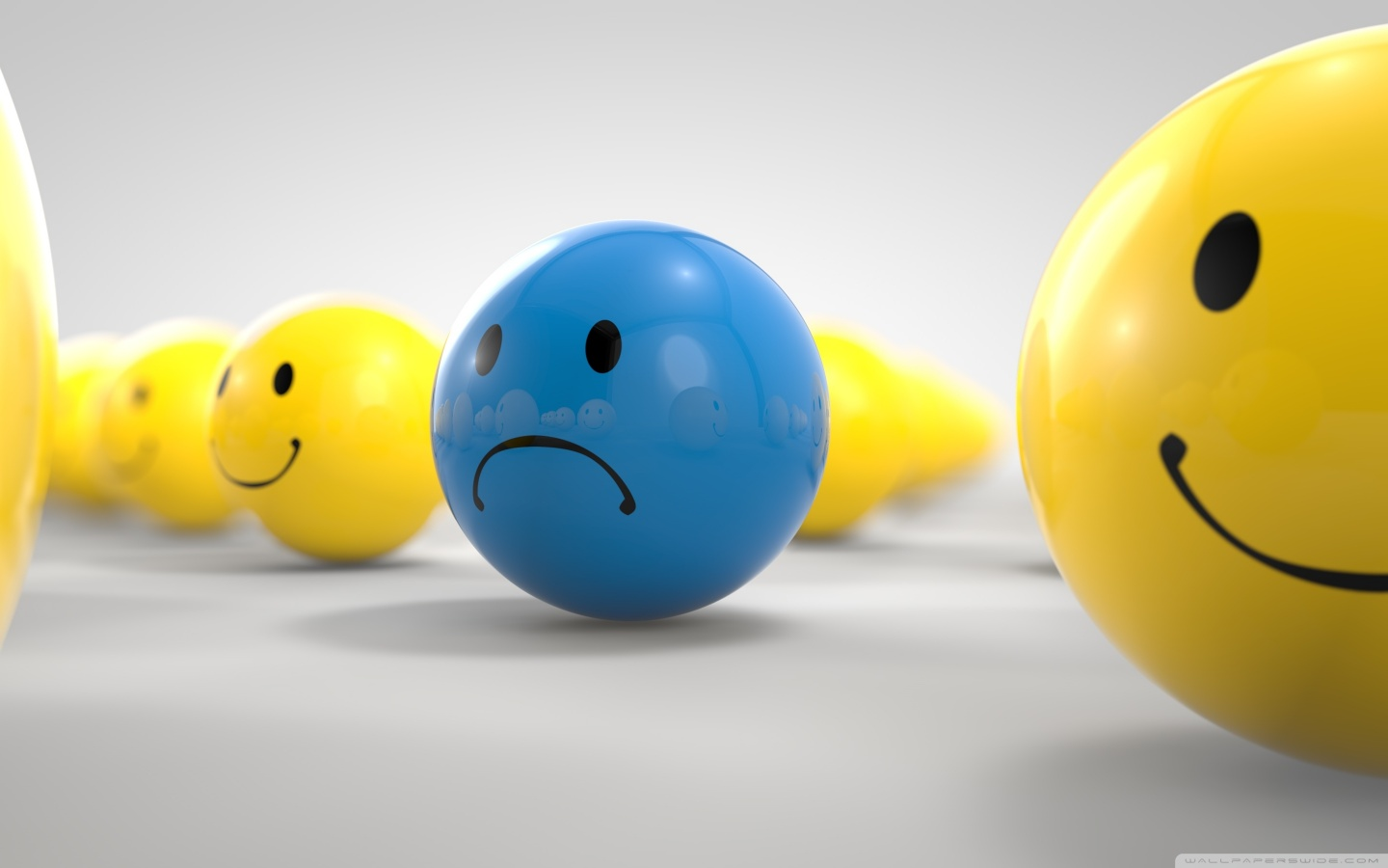sad blue smiley yellow smileys