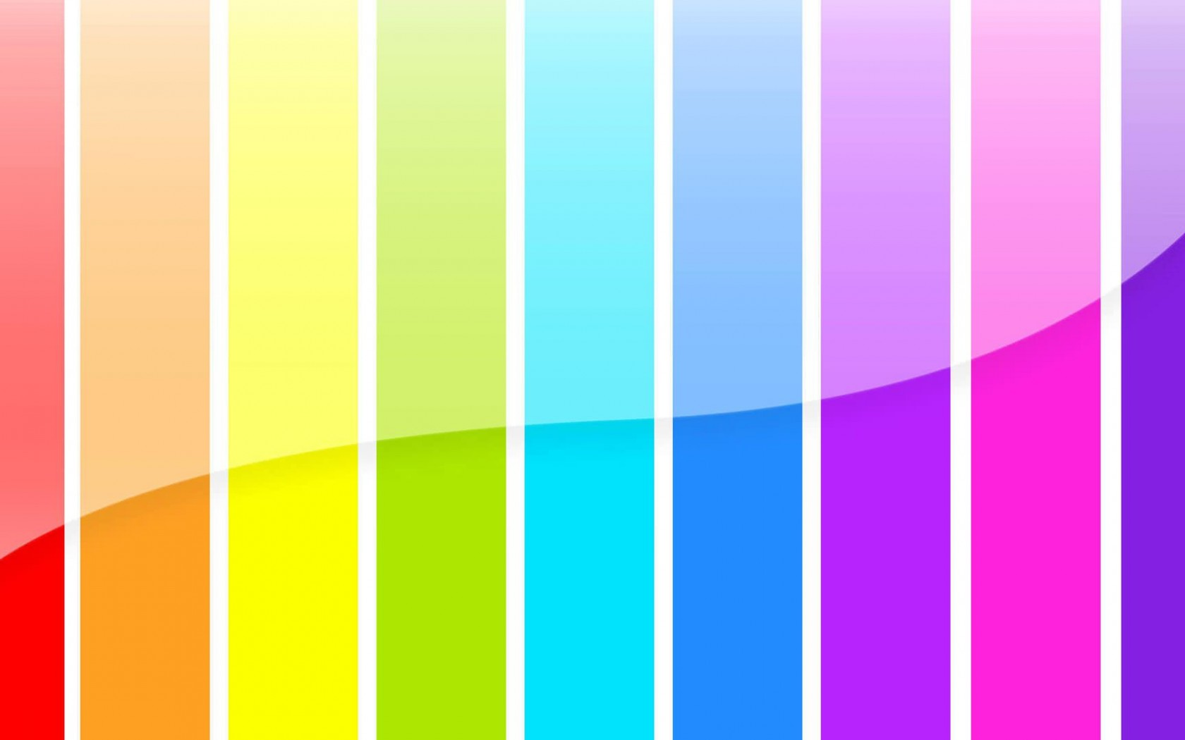 3d glossy color bars background