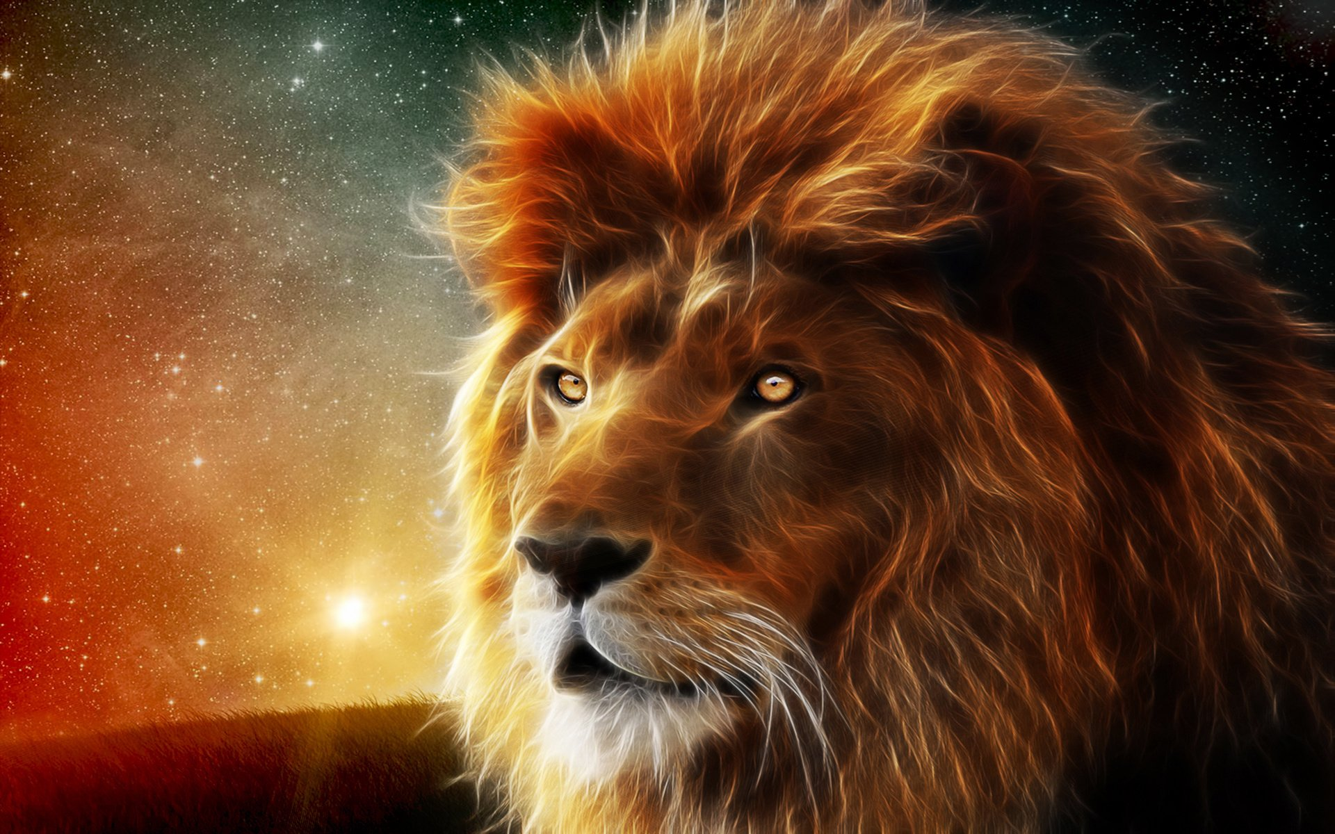 3d Lion Graphics Art