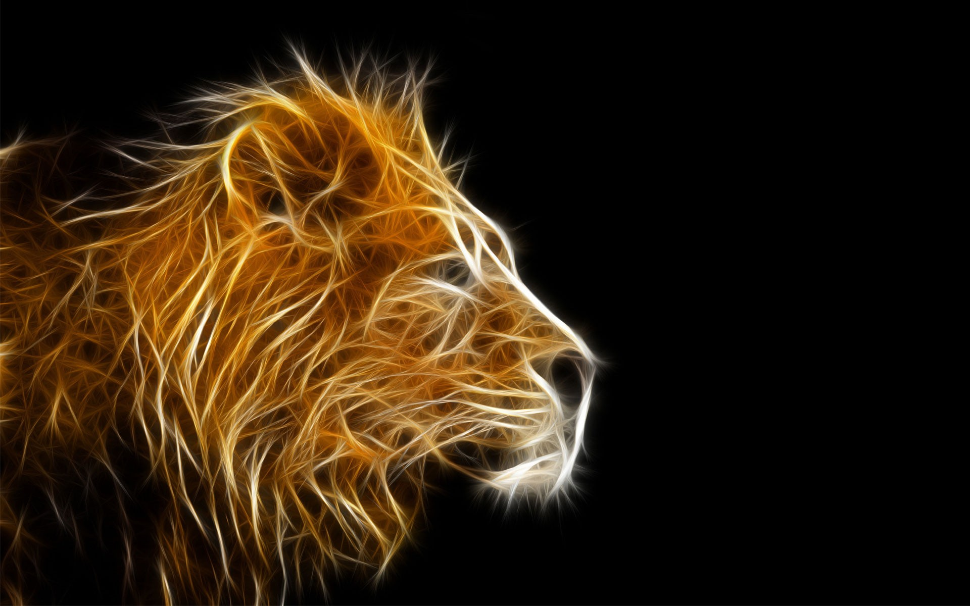 3d Lion Painting Wallpaper