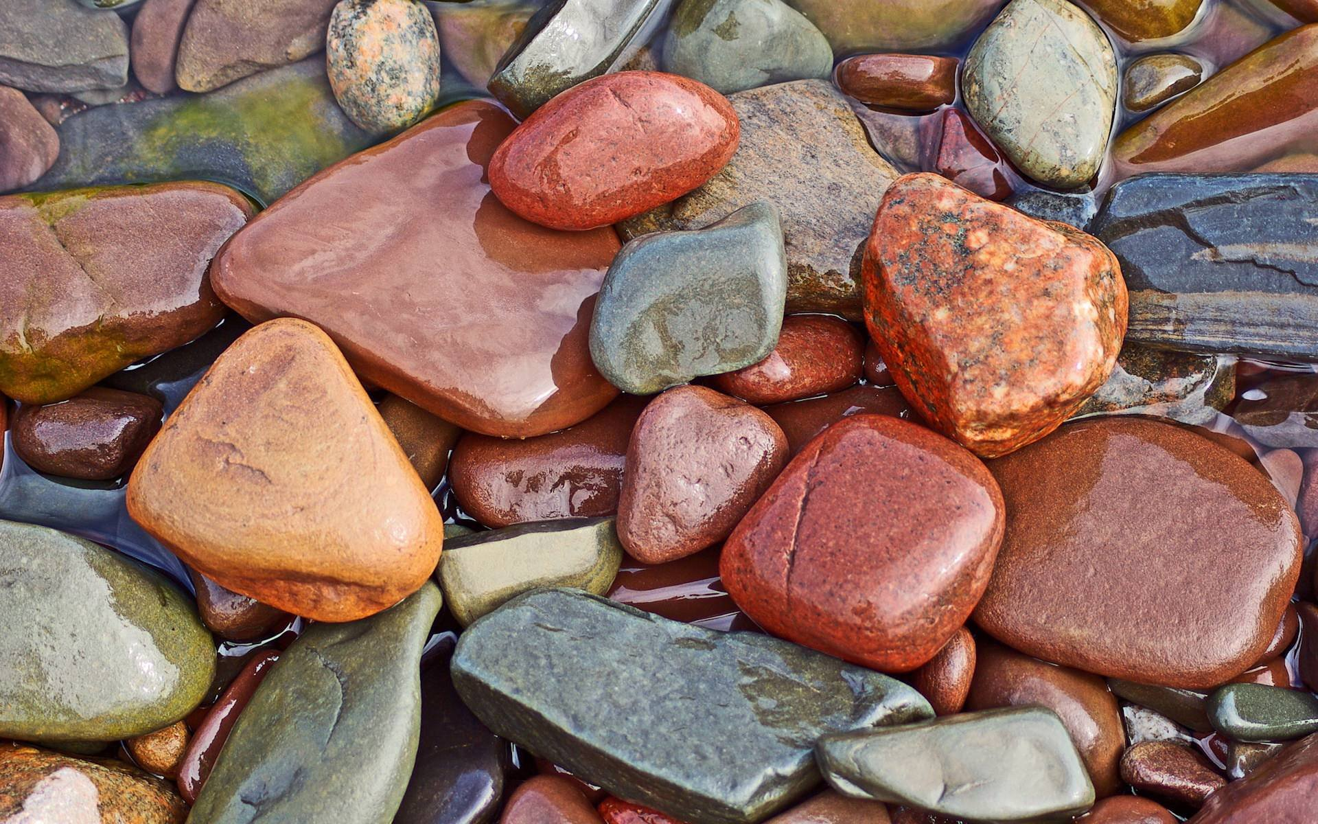 3d nature pebbles water flow