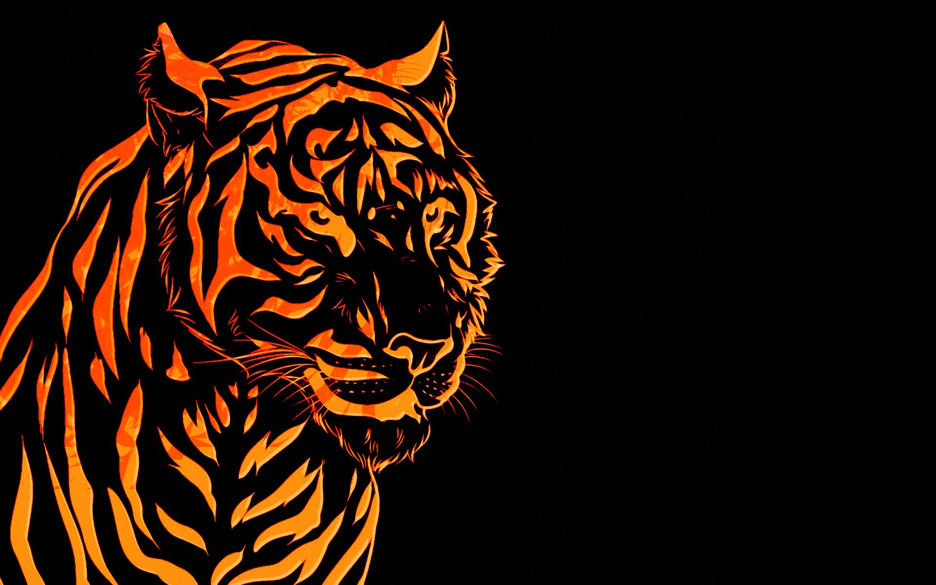 amazing 3d tiger