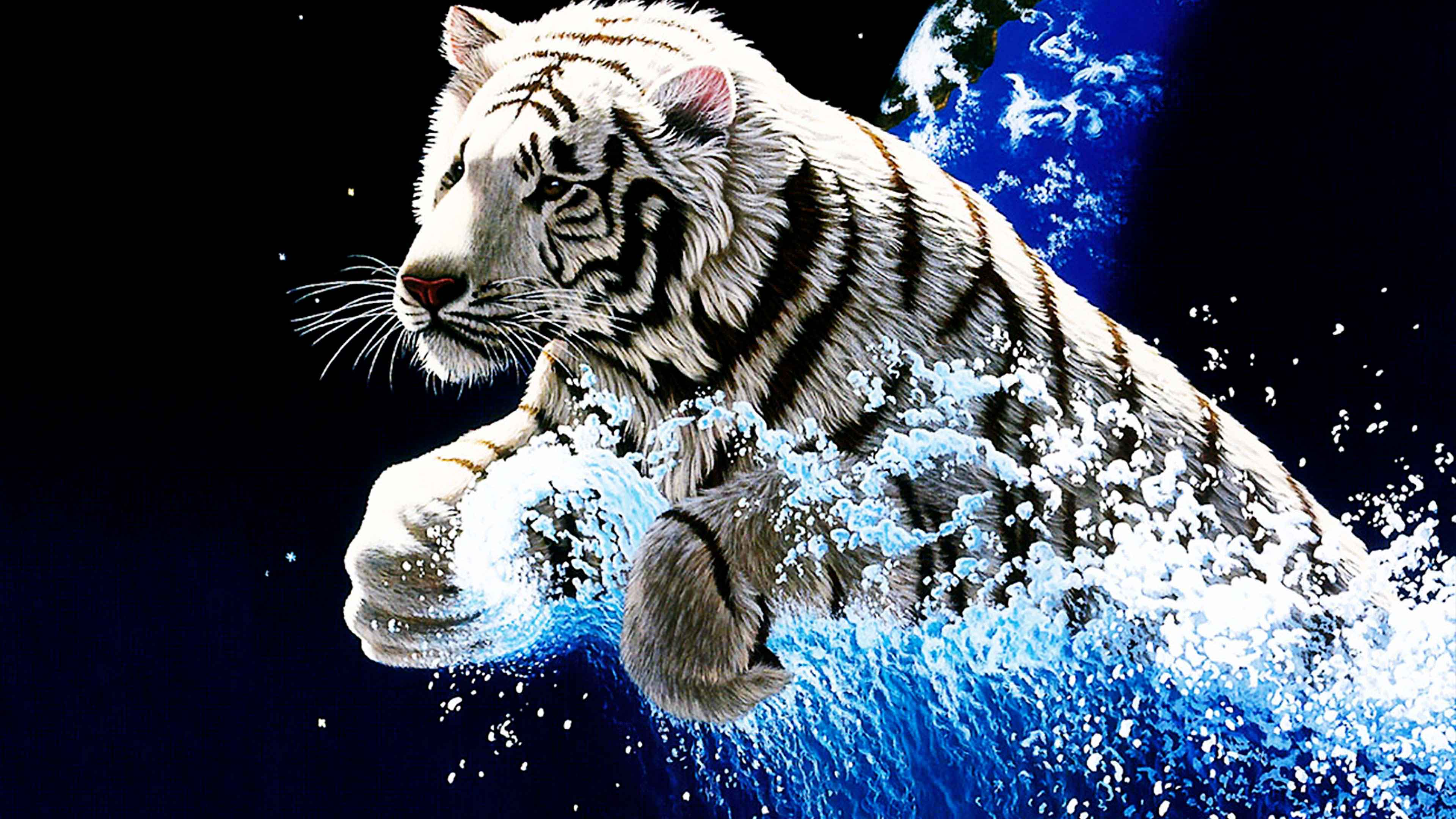 Animated 3d Tiger