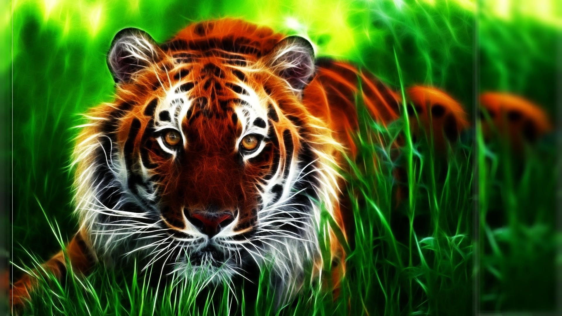 cool 3d tiger