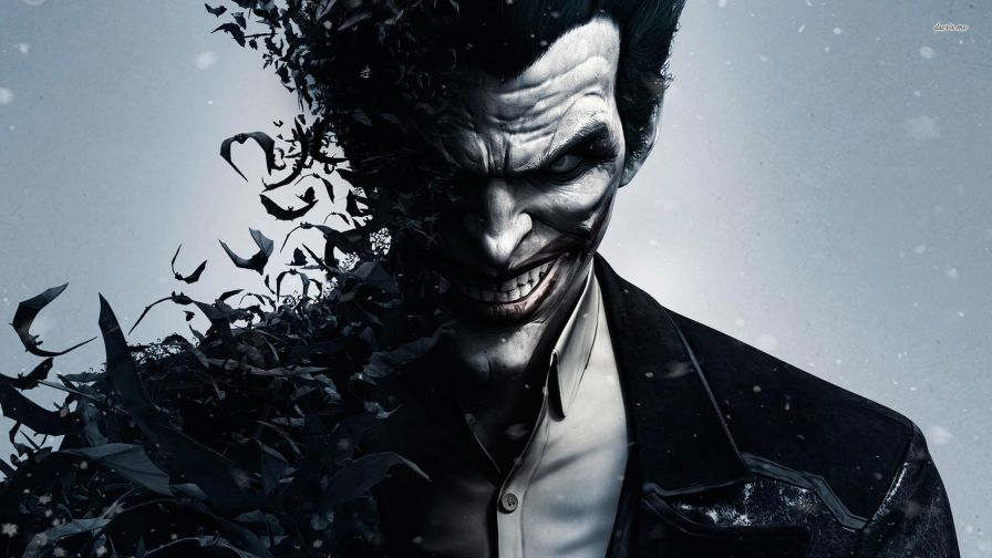 joker smiling batman arkham
