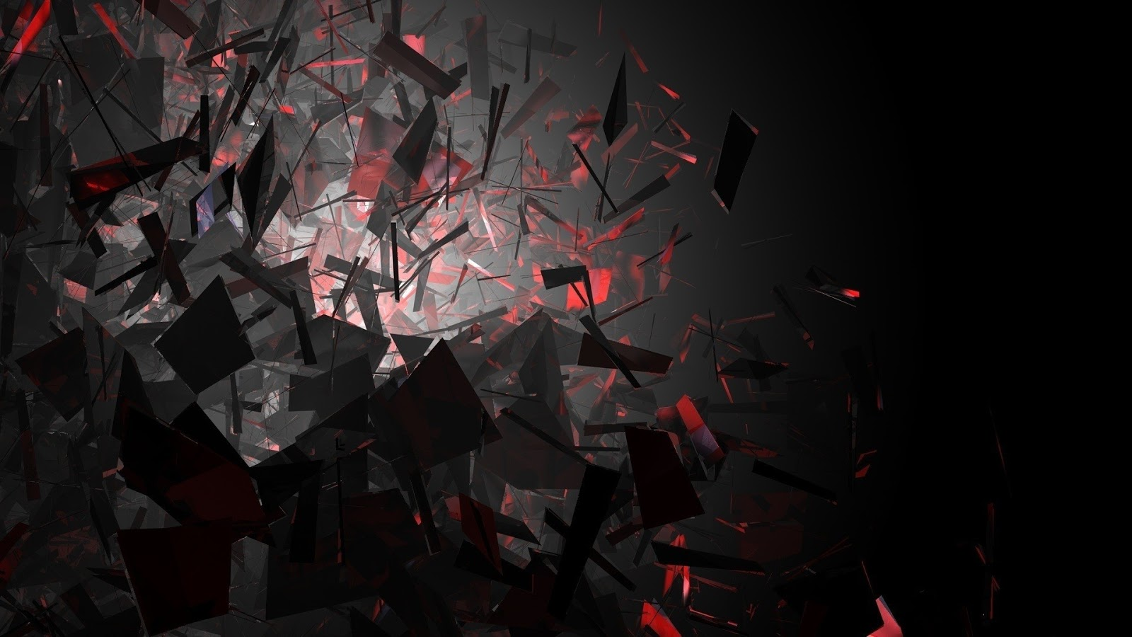 black red explode abstract