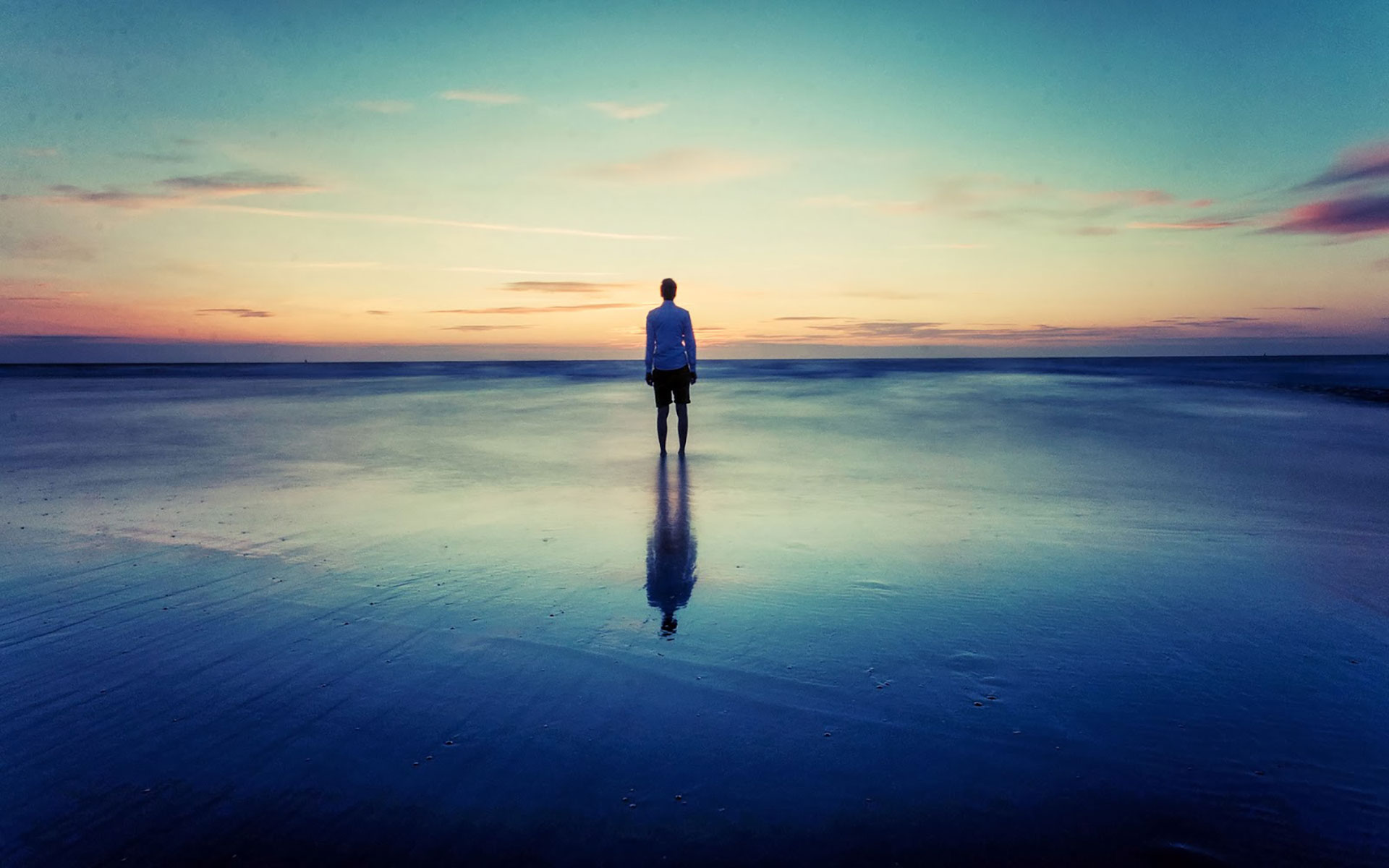 Alone Sad Boy Standing