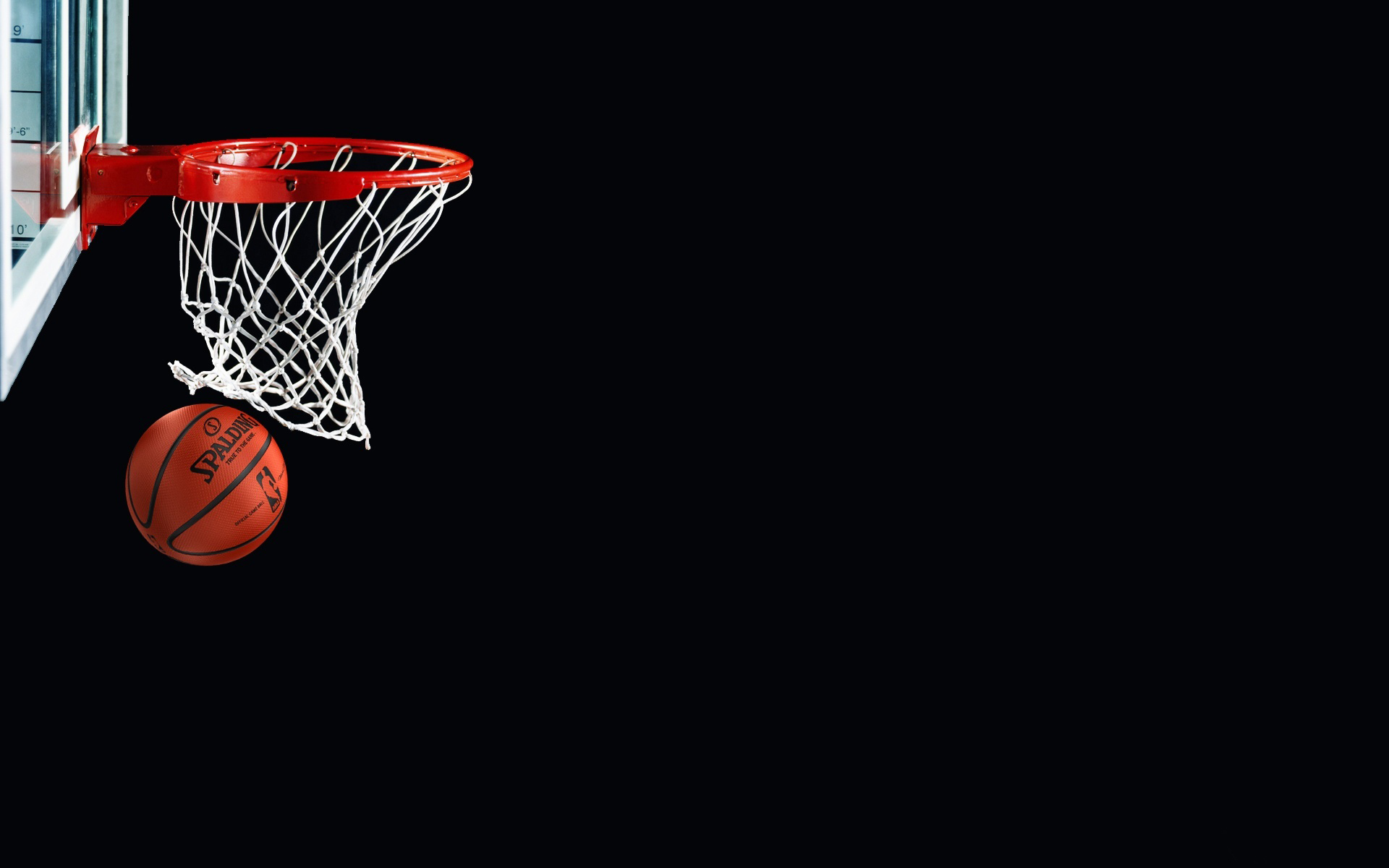 basketball black background