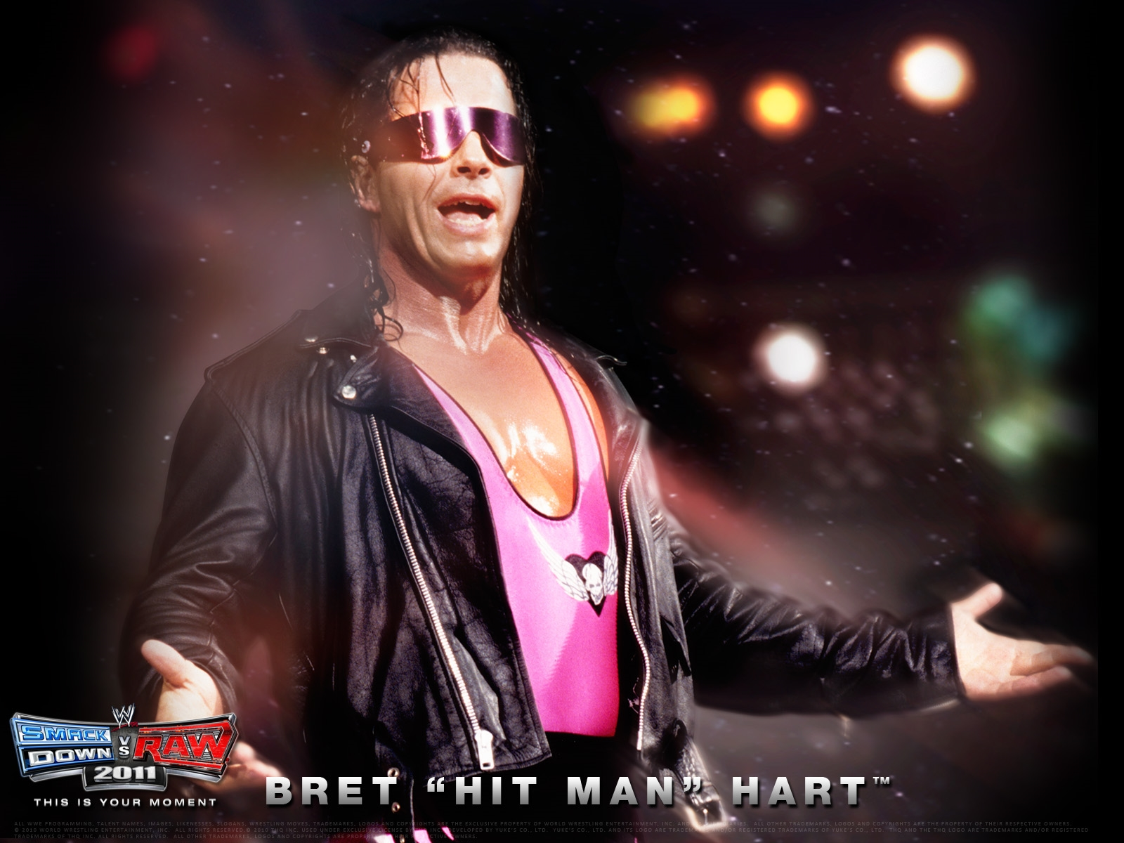 bret hart hit man wwe poster