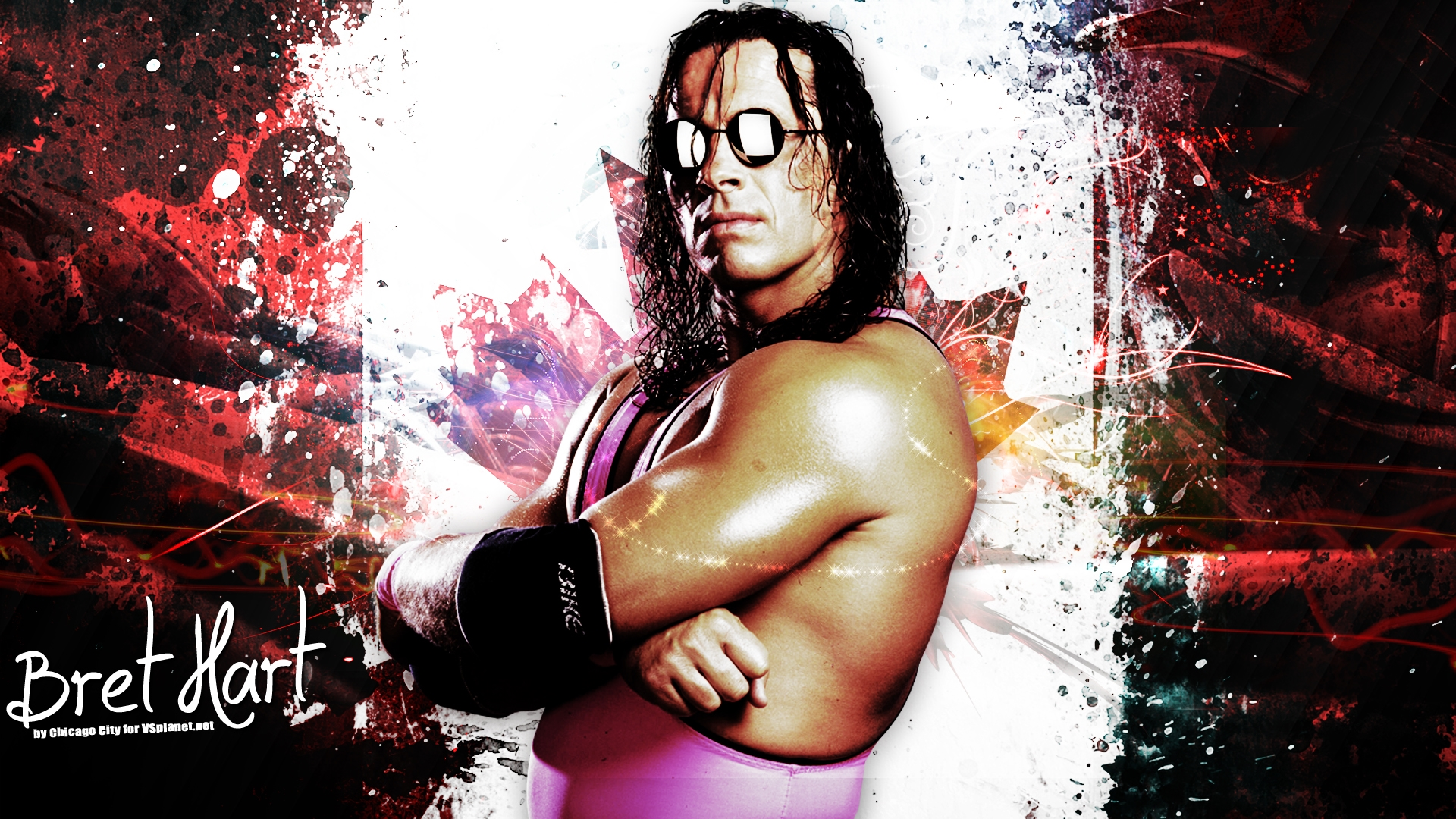 Bret Hart Hit Man Wwe Super Star