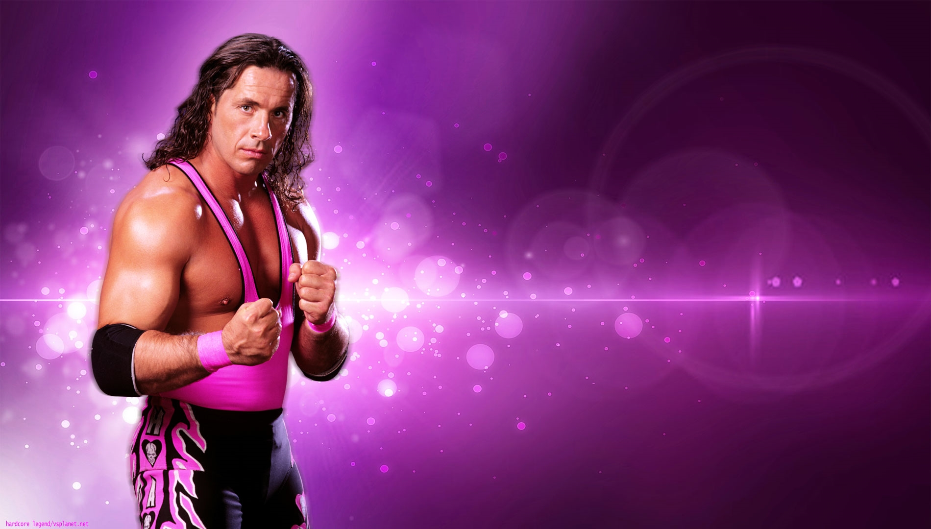 Bret Hart Pink Background