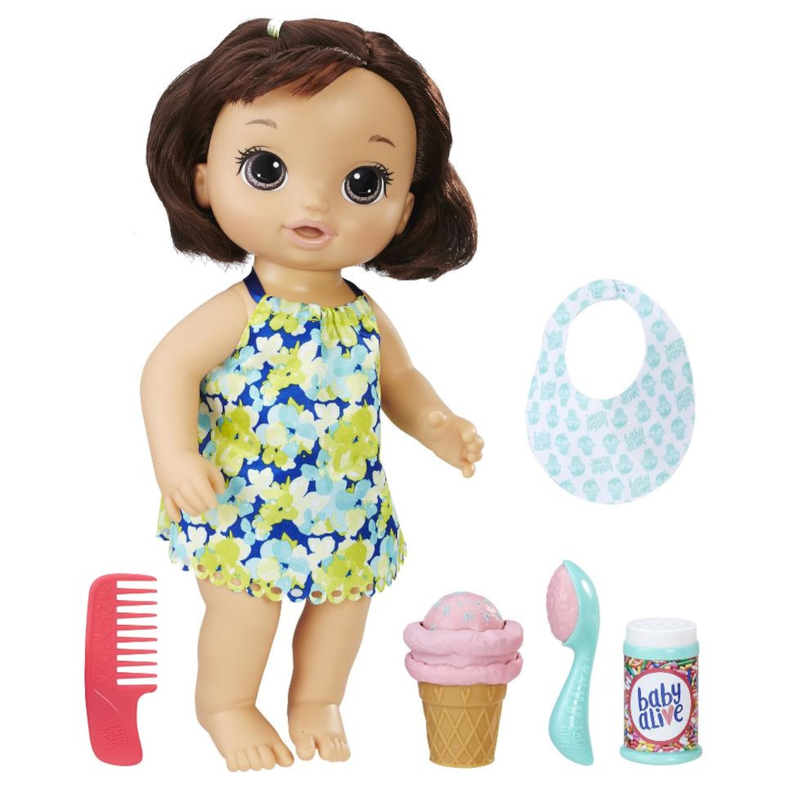 baby alive magical scoops baby doll brunette