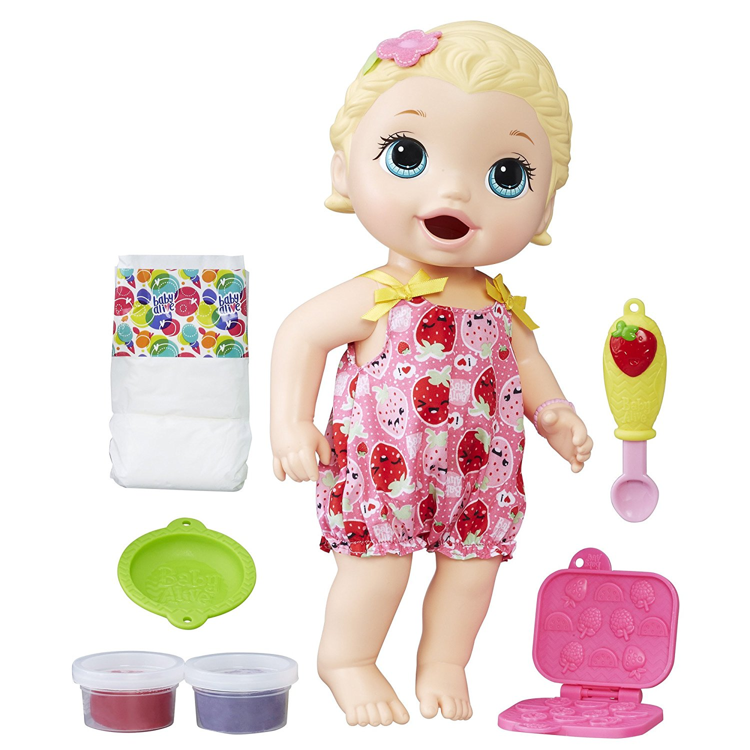 baby alive snackin lily blonde doll