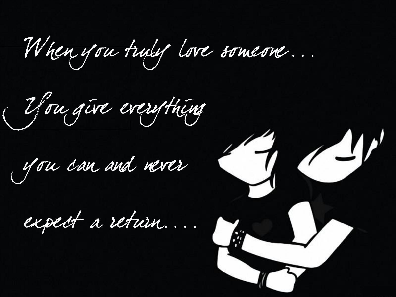 Emo True Love Quote