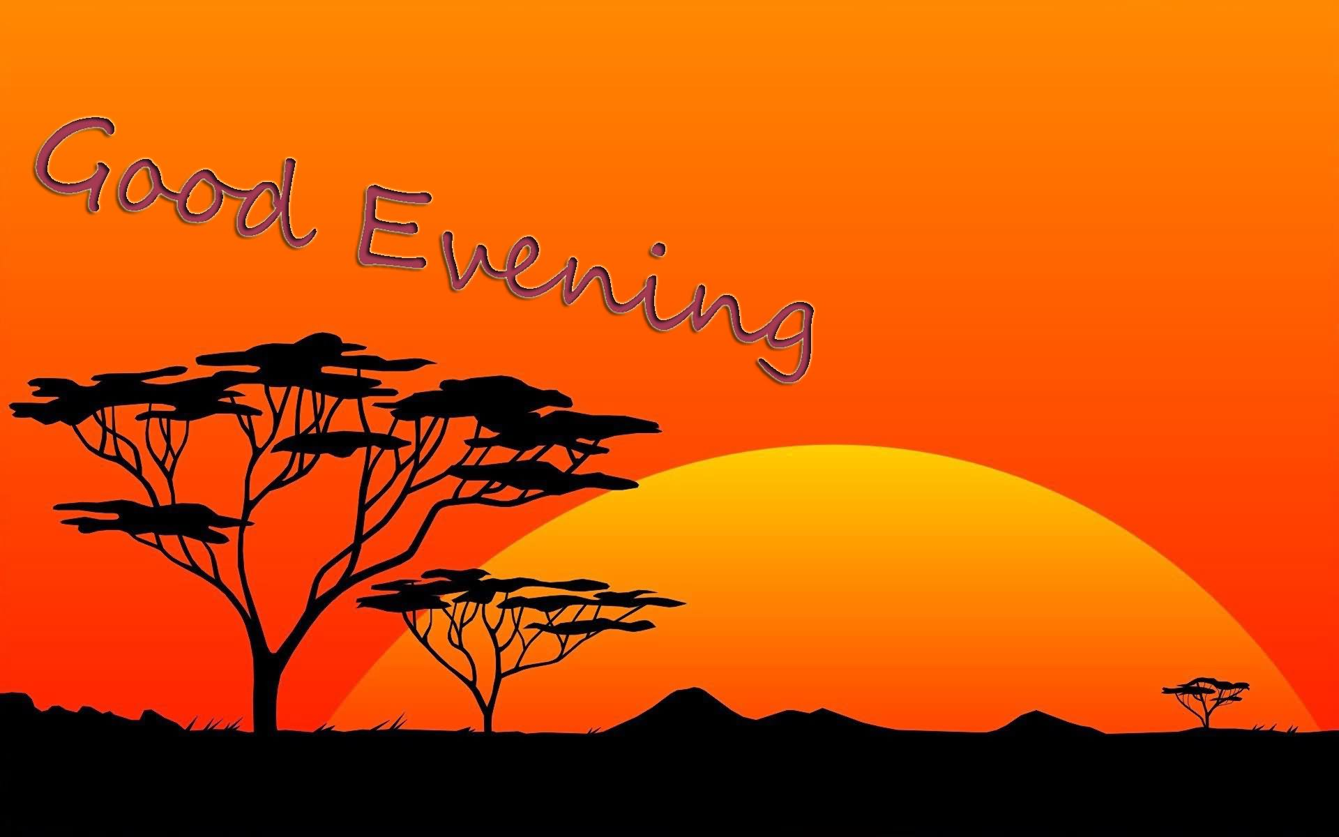 Good Evening Wish Sunset Art