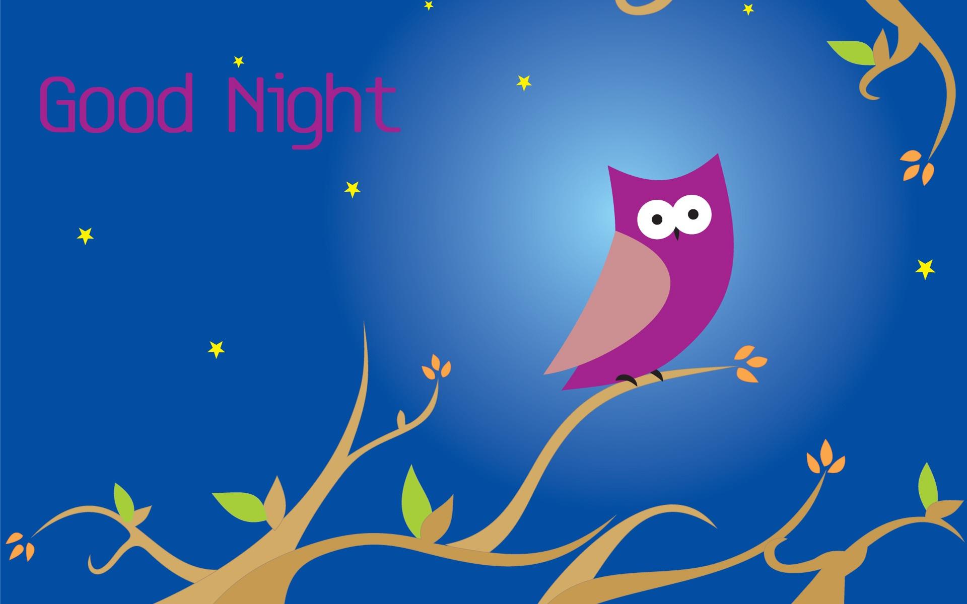 Good Night Owl Tree Graphics