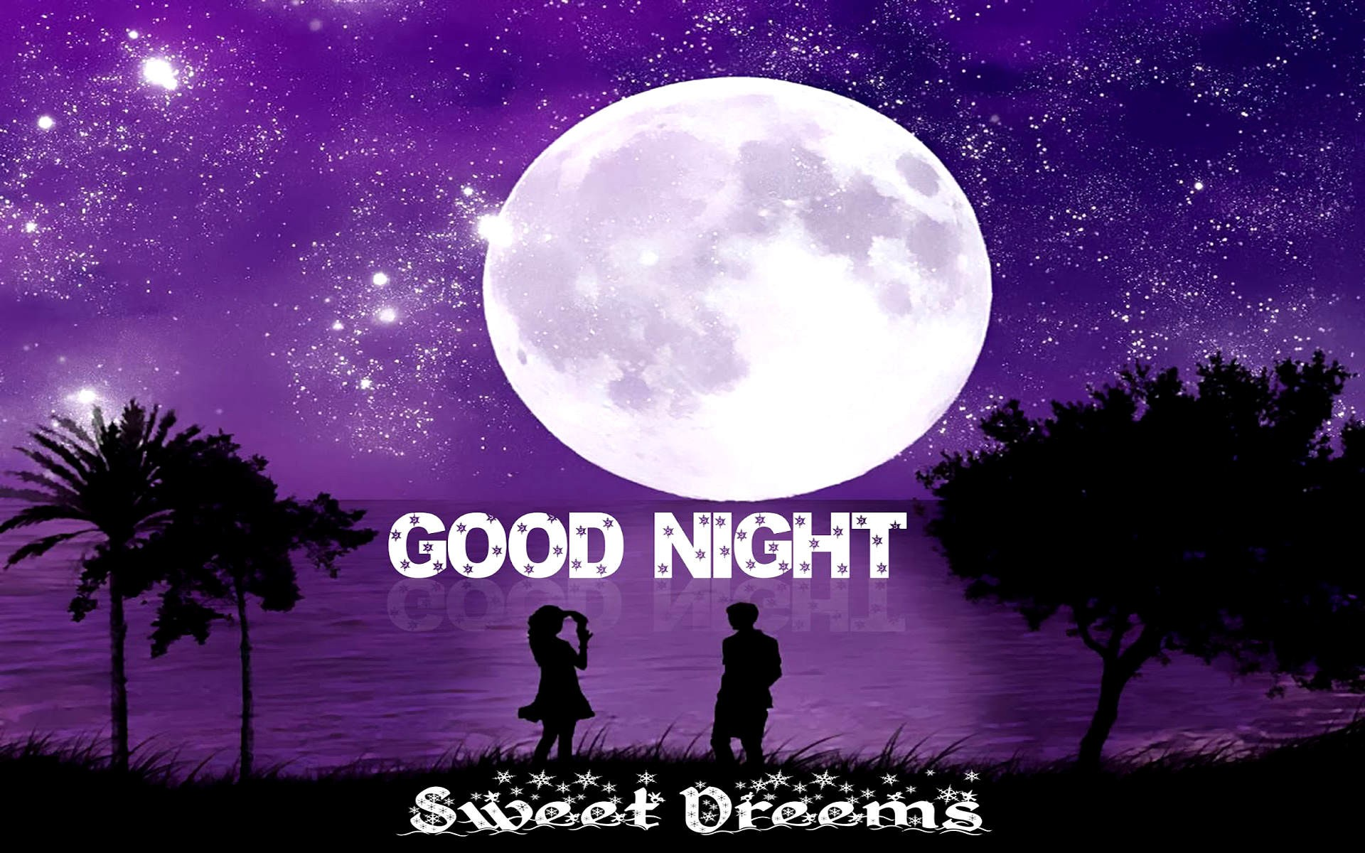 Good Night Sweet Dreams Couple Art
