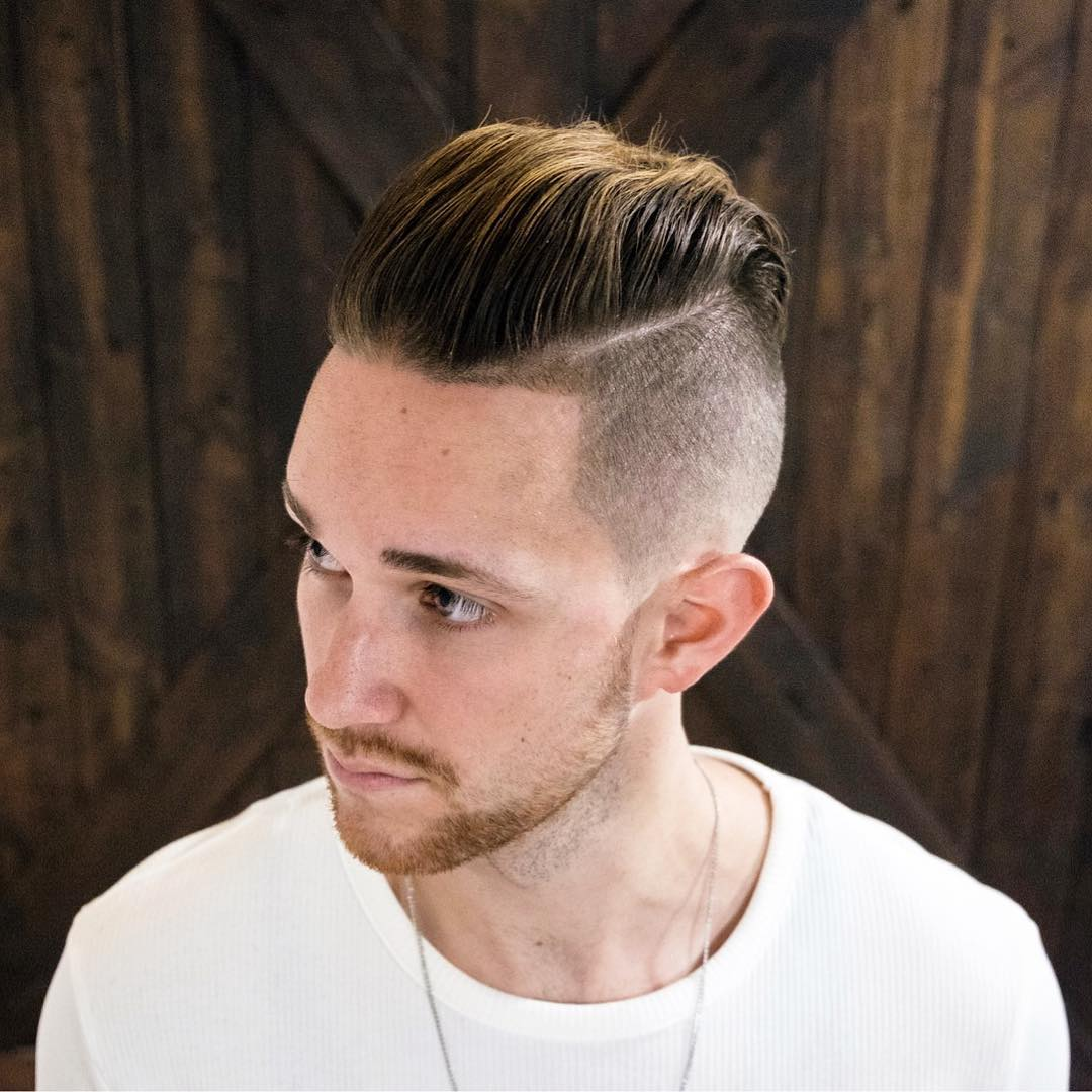 undercut and thick pompadour hairstyle