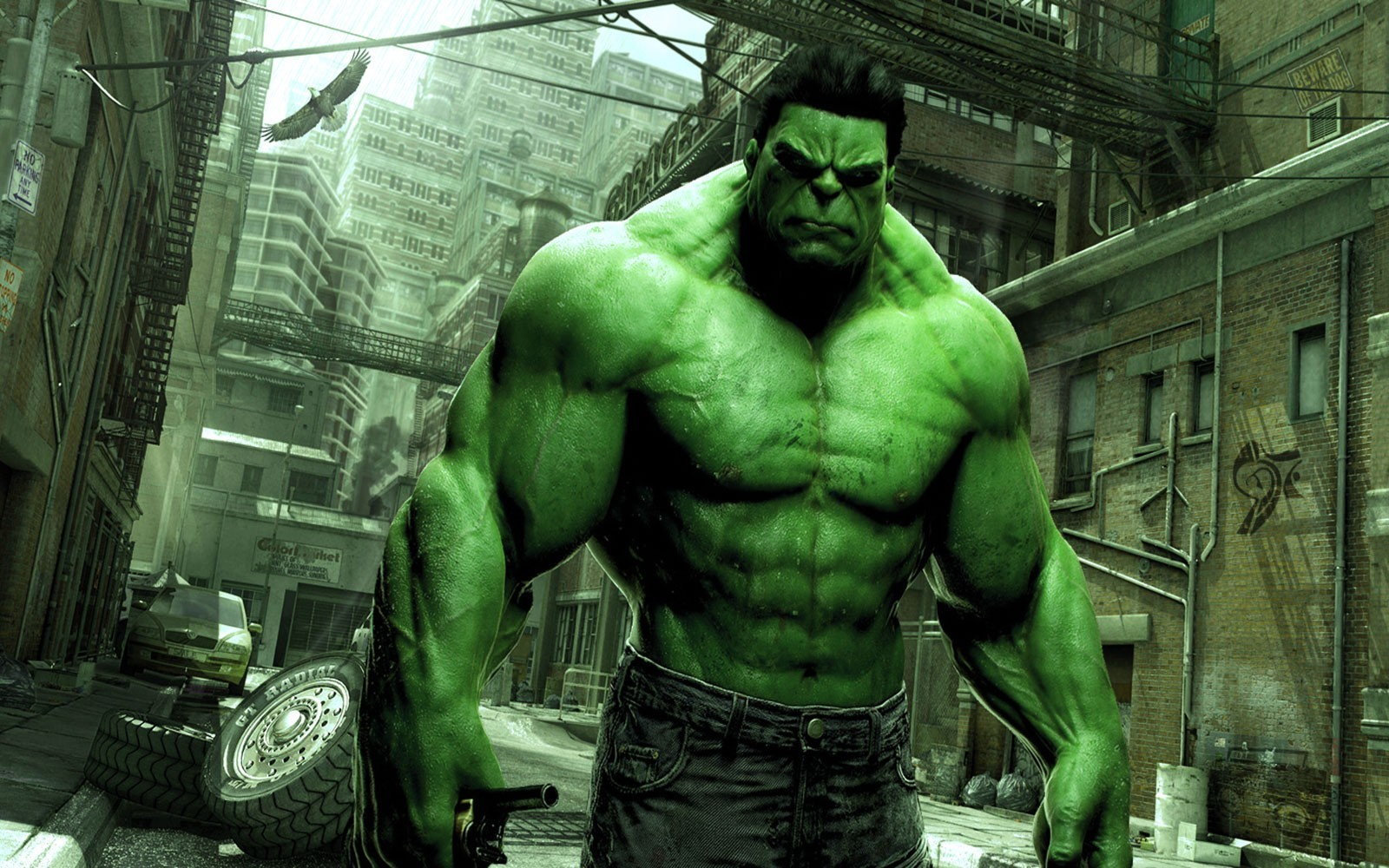 green marvel comics hulk