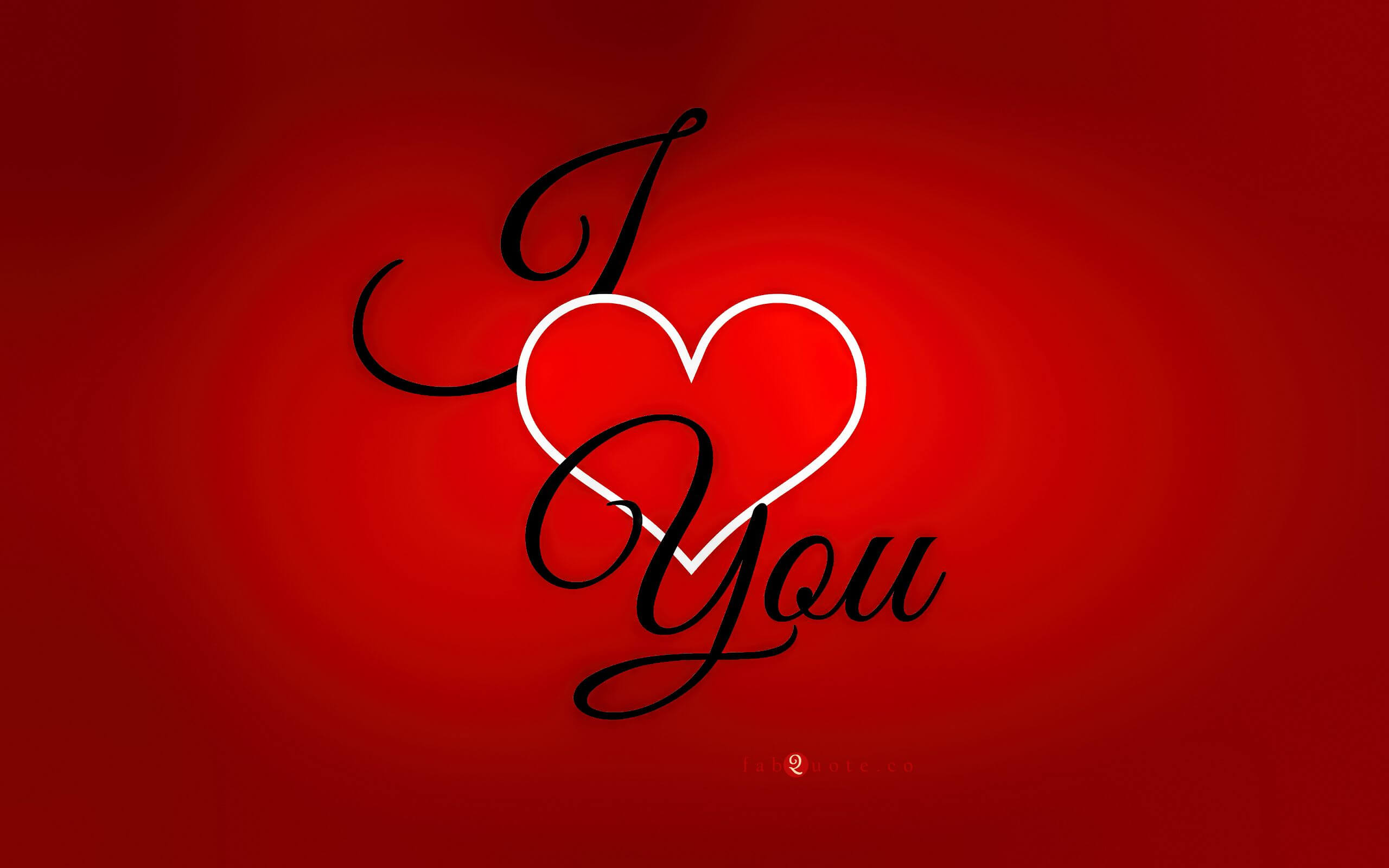 i love you red background