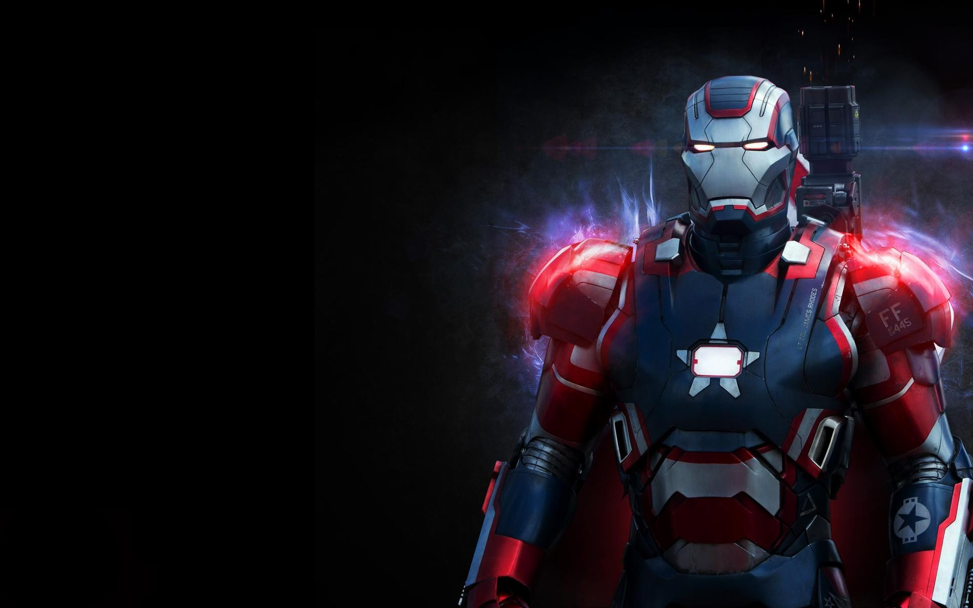 iron patriot black background
