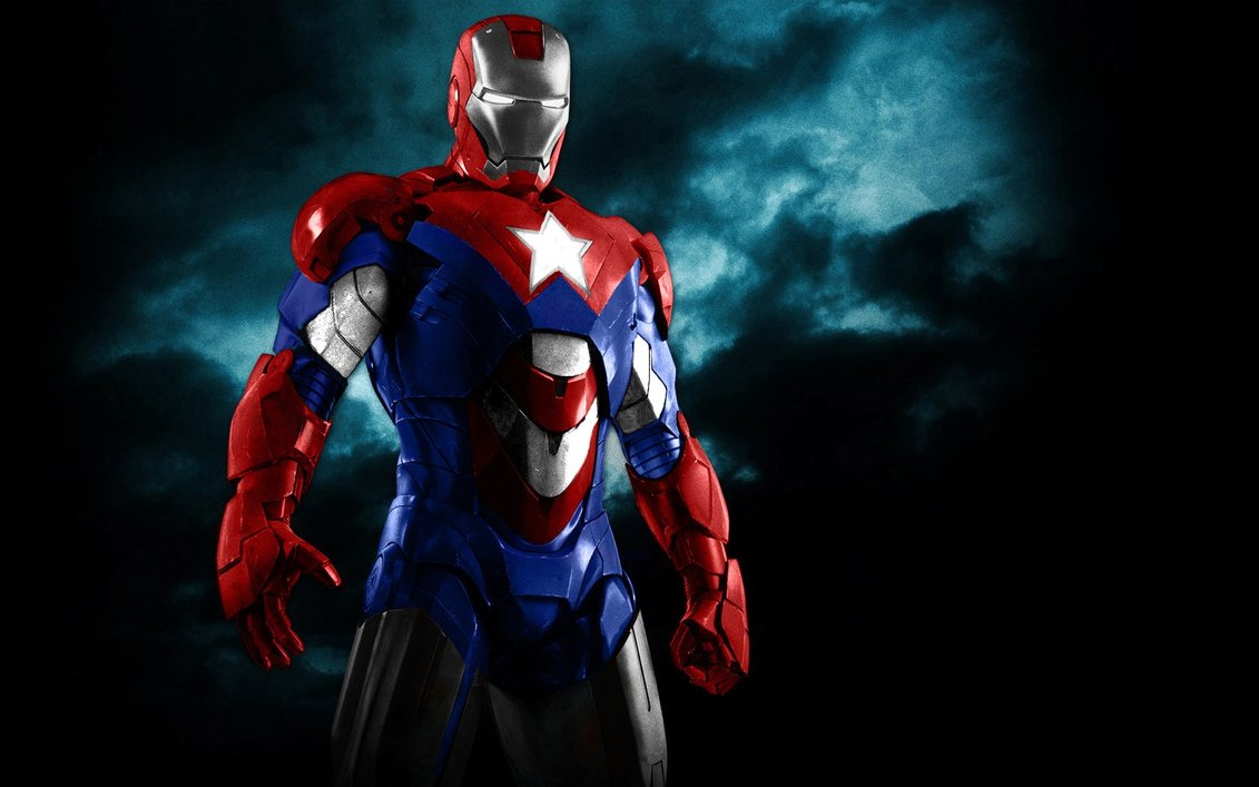 Iron Patriot Black Dark Background