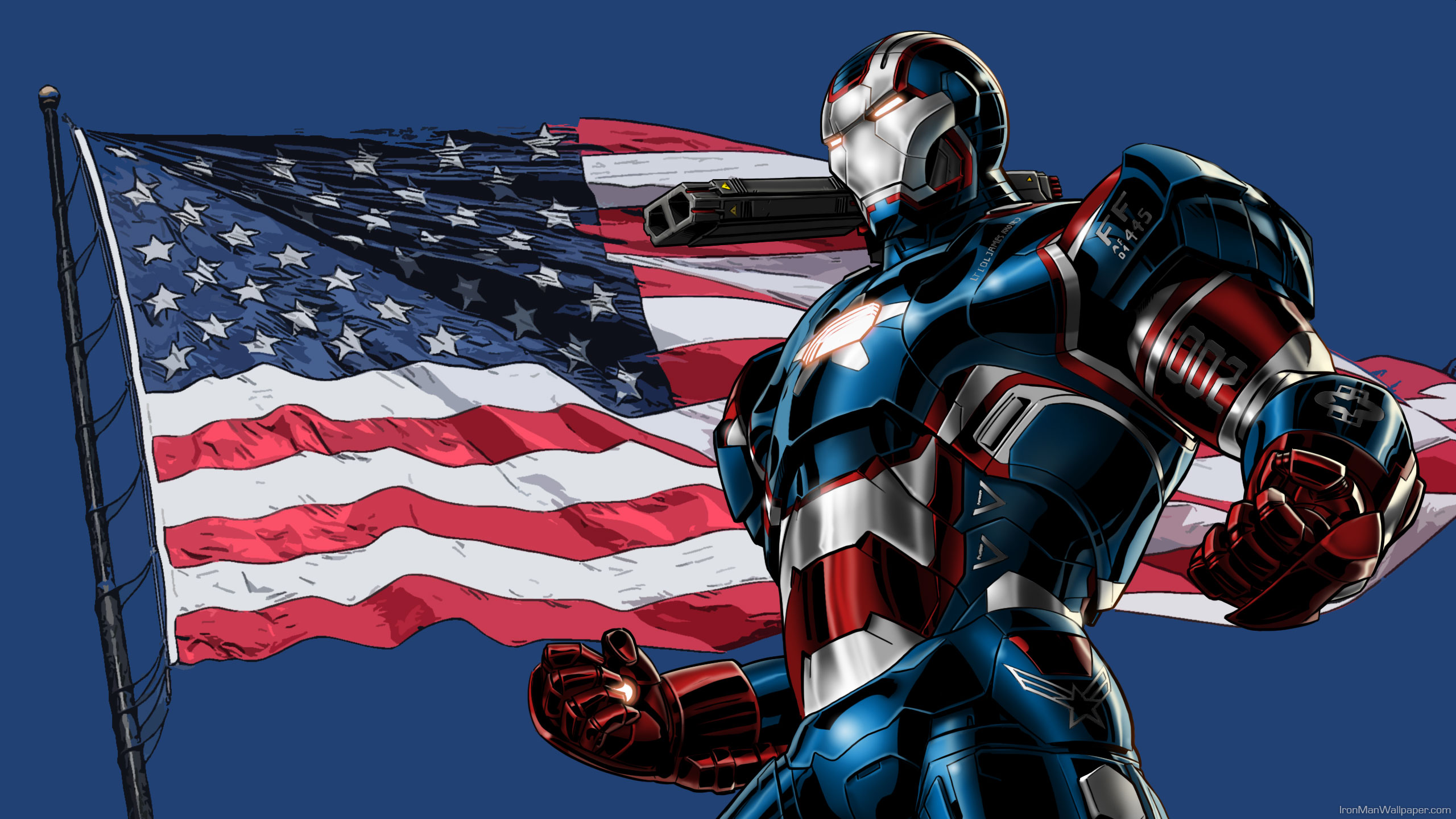 iron patriot hero usa flag