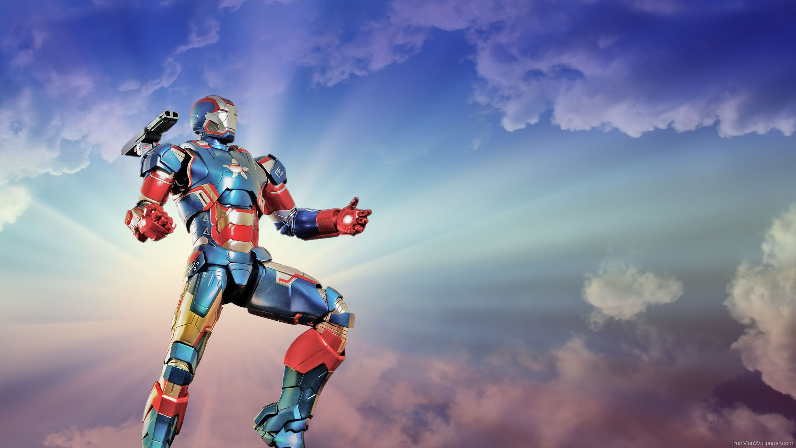 iron patriot sky background