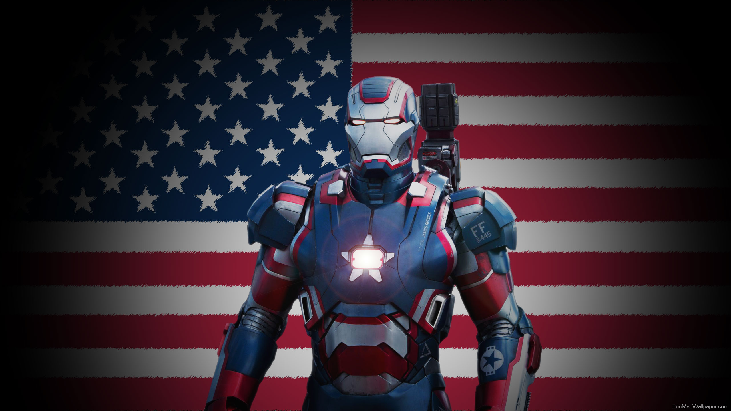 iron patriot us flag background