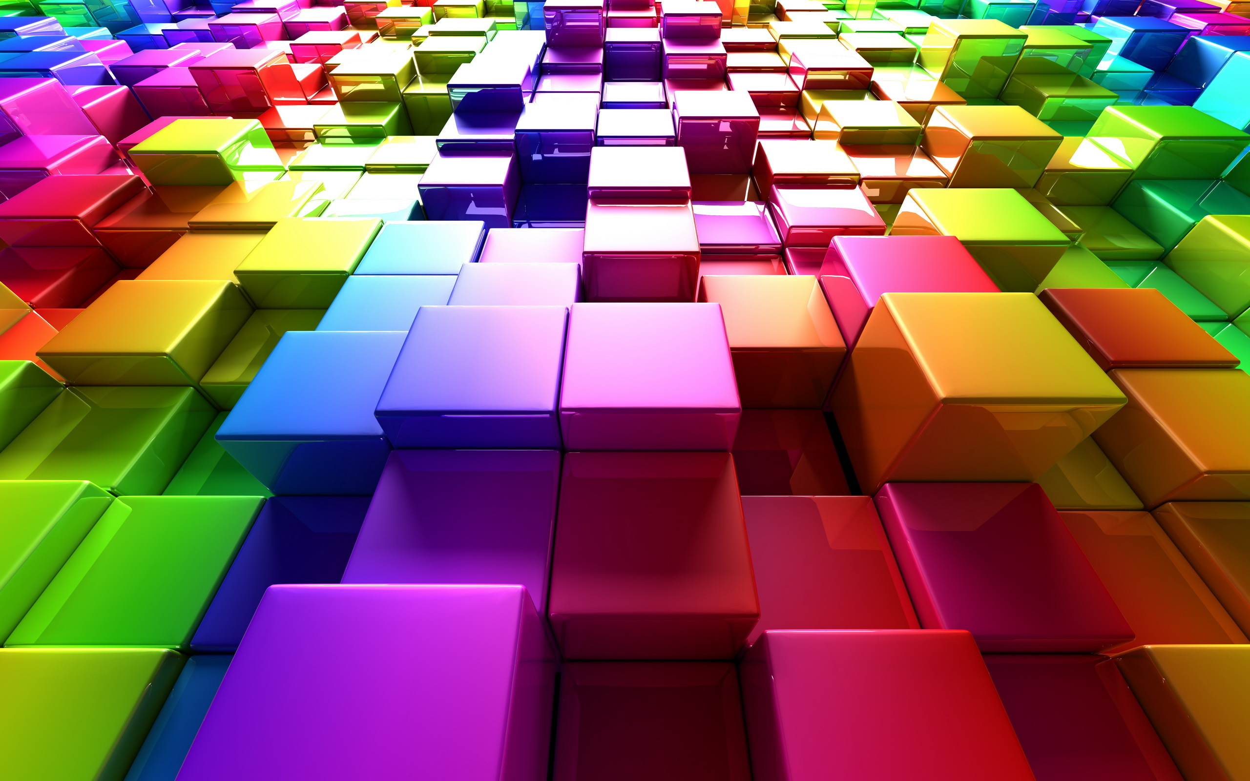 3d Colorful Boxes Glossy Steps