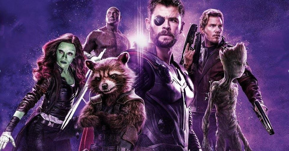 Avengers Infinity War Poster Thor Star Lord Drax Gamora Rocket And Groot