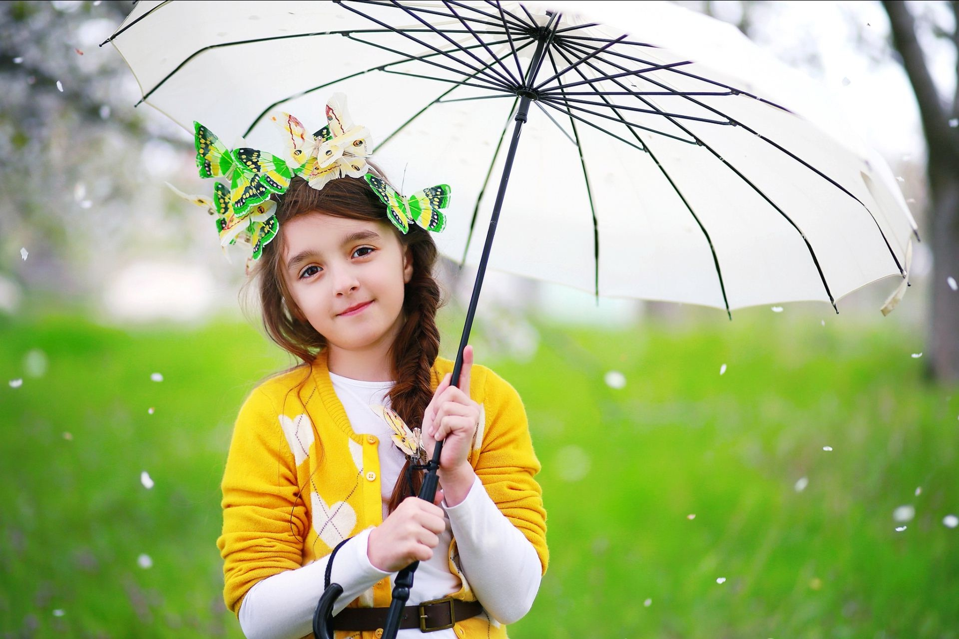pretty cute girl with umbrella